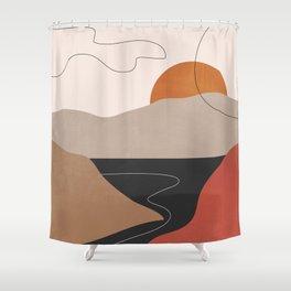Abstract Art / Landscape 2 Shower Curtain