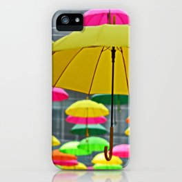 Umbrella Series - Yellow iPhone Case