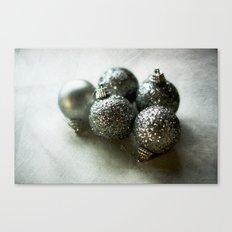 Silver Baubles Canvas Print