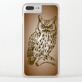 Great Owl Clear iPhone Case