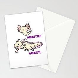 Cute Reptile Axolotl Animal Stationery Cards