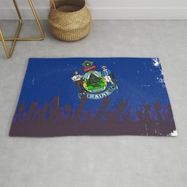 Maine State Flag with Audience Rug