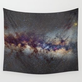 The Milky Way from Scorpio Antares and Sagitarius to North America Nebula in Cygnus Wall Tapestry