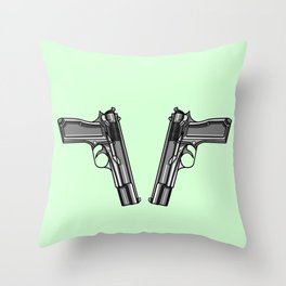 Hip Tattoo Pistols Throw Pillow