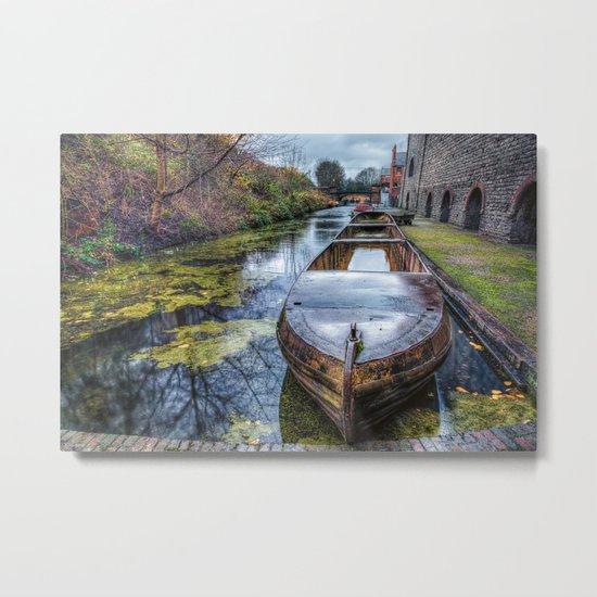 Vintage Canal Boat Metal Print