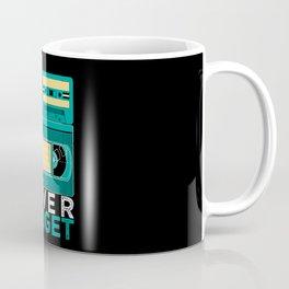 Never Forget   Retro VHS Cassette Tape Floppy Disk Coffee Mug