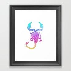 Neonimals: Scorpion Framed Art Print