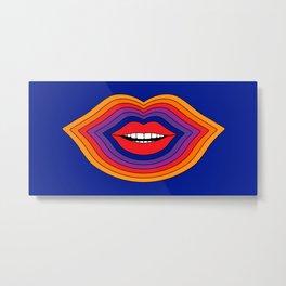 Pop Lips Metal Print