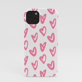 Romantic Pink Hearts Valentine's Day Gift Art Print iPhone Case
