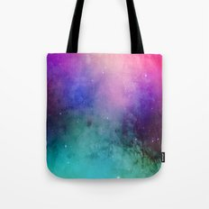 Mystical azure galaxy Tote Bag