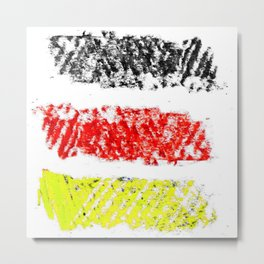 Flag of Germany 3-chalk version Metal Print