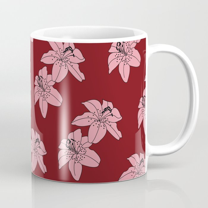 Lily The Tiger - Red Coffee Mug