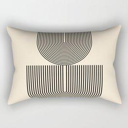 Abstraction_SUN_LINE_HARMONY_POP_ART_Minimalism_017S Rectangular Pillow