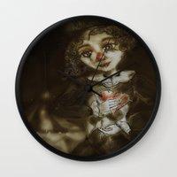 clown Wall Clocks featuring clown  by AliluLera