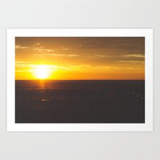 Sunrise in New Mexico Art Print
