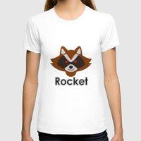 rocket raccoon T-shirts featuring Rocket by Pop Culture Fanatics