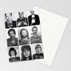 Rock and Roll Mug Shots Stationery Cards