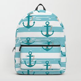 AFE Nautical Anchor Pattern Backpack