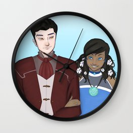 Makorra Wedding Portrait Wall Clock