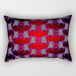 Bat Wing Heart Print by Xen™ Tattoo Design Rectangular Pillow