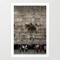 palestine Art Prints featuring Jerusalem Palestine by Sanchez Grande