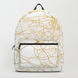 DUBLIN IRELAND CITY STREET MAP ART Backpack