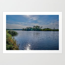 A view up the River Yare Art Print