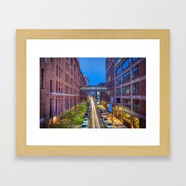 Sky Bridge Over NYC Framed Art Print