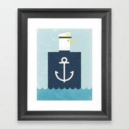 Eagle Captain Framed Art Print