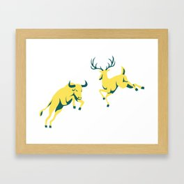 Bull and Buck Framed Art Print