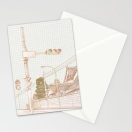 Street in Japan Stationery Cards