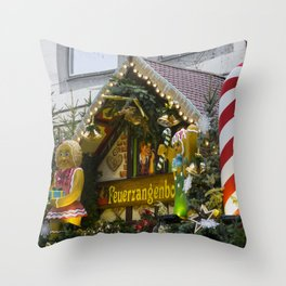 Candy Stick Xmas Throw Pillow