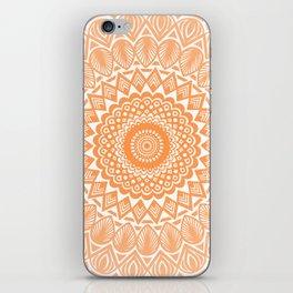 Orange Tangerine Mandala Detailed Textured Minimal Minimalistic iPhone Skin