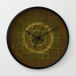Green Mold Mandala 2 Wall Clock