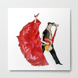 Tango (Watercolour) Metal Print