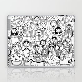Matrioshka doodle Laptop & iPad Skin