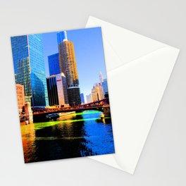 Clark St. Bridge, Chicago (Pop) Stationery Cards