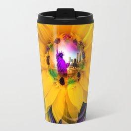 Sunflower - Statue of Liberty Travel Mug
