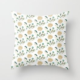Ginkgo Floral Throw Pillow
