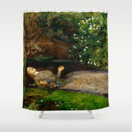 "John Everett Millais ""Ophelia"" Shower Curtain"