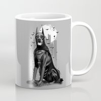 doberman Mugs featuring DOBERMAN by ADAMLAWLESS