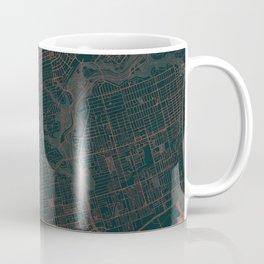 Toronto Map Red Coffee Mug