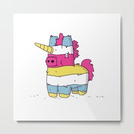 Pinata Unicorn Metal Print