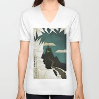 edward scissorhands V-neck T-shirts featuring Edward Scissorhands by Fontolia (Katie Blaker)