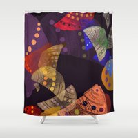 cocktail Shower Curtains featuring Fruit cocktail. by Mary Berg