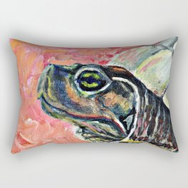 Abstract turtle painting Rectangular Pillow