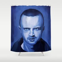 jesse pinkman Shower Curtains featuring Jesse Pinkman by Richtoon