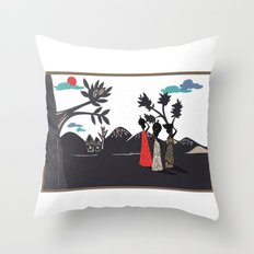 Africa life Throw Pillow
