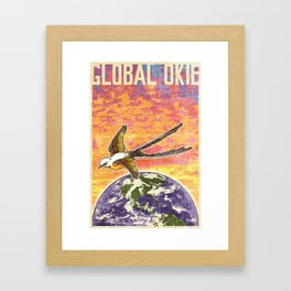Global Okie 'Flycatcher' Poster Framed Art Print