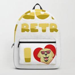 Retriever Dog Pet Golden Retriever Animal Gift Backpack